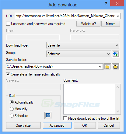screenshot of Free Download Manager