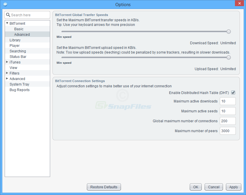 screenshot of FrostWire