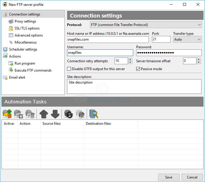 screenshot of FTPGetter Professional
