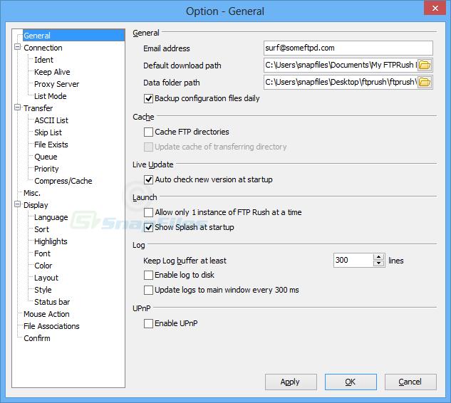 screenshot of FTP Rush