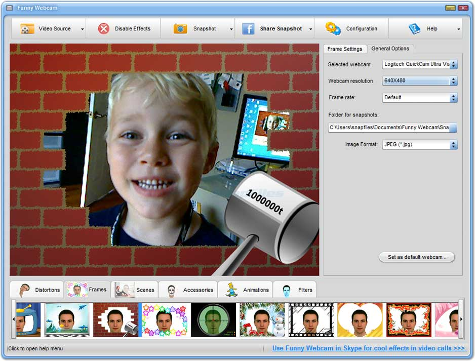 screenshot of Funny Webcam