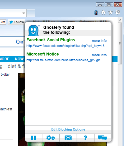 ghostery internet explorer