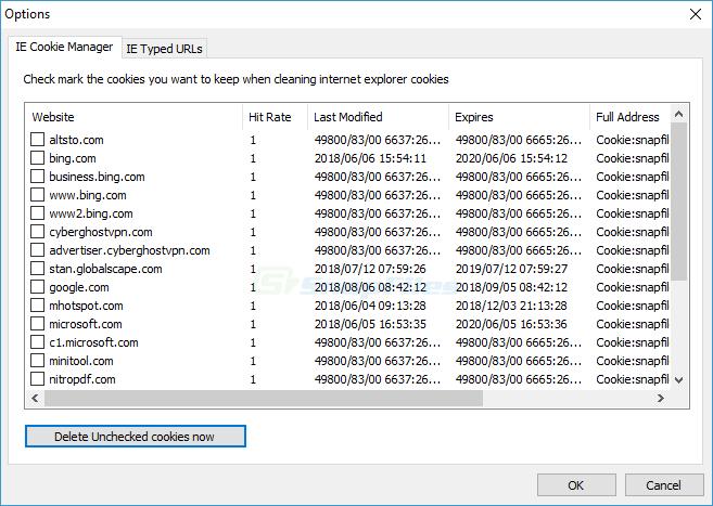 screenshot of Glary Tracks Eraser