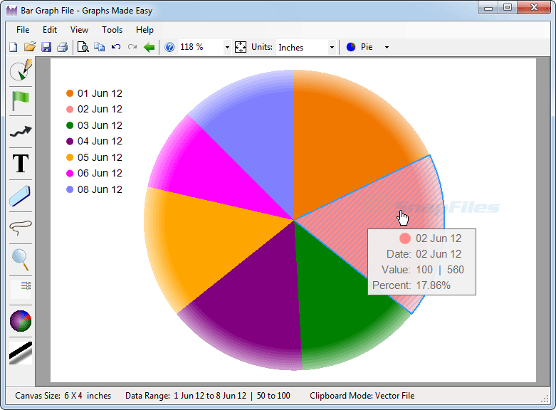 screenshot of Graphs Made Easy