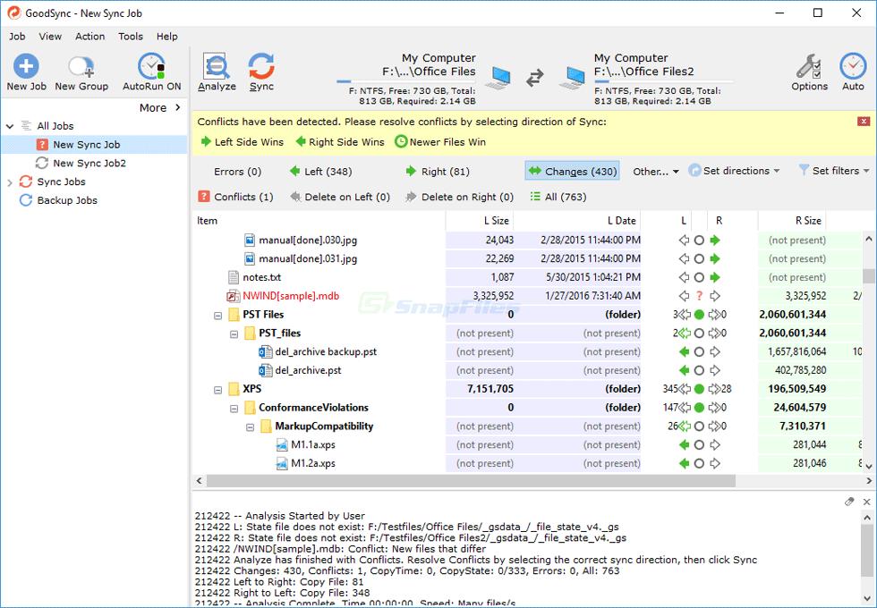 GoodSync - file synchronization tool