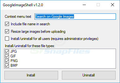 screenshot of GoogleImageShell