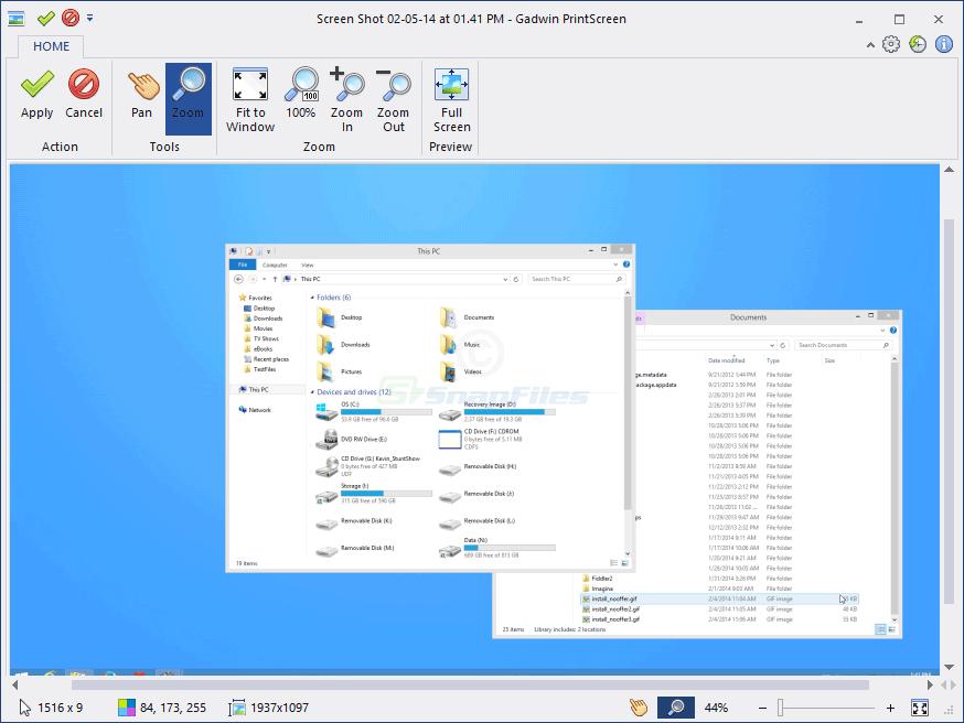 Gadwin PrintScreen - screen capture tool