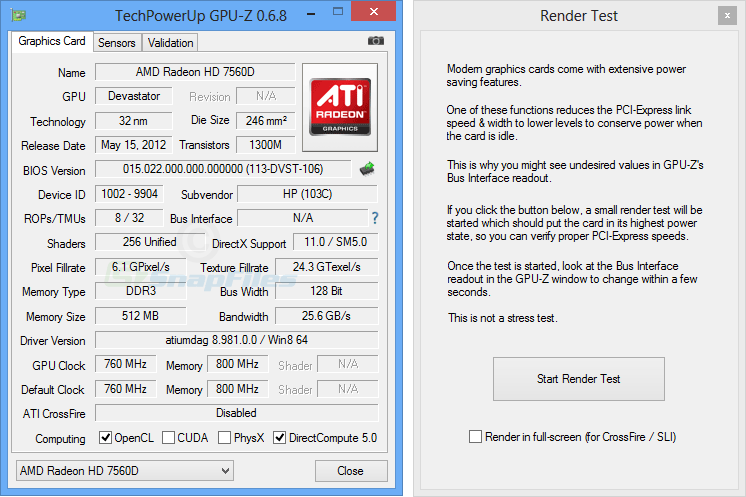 screenshot of GPU-Z