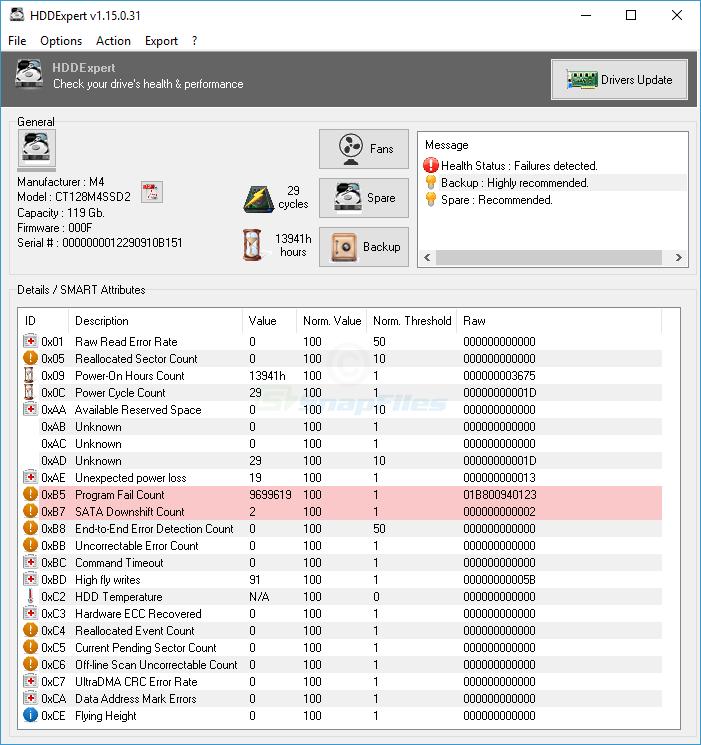 screen capture of HDDExpert