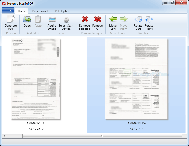 screen capture of Hexonic ScanToPDF
