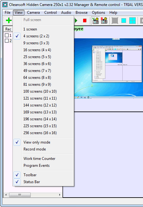 screenshot of Oleansoft Hidden Camera