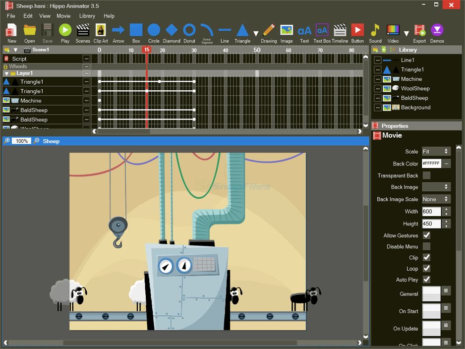 screen capture of Hippo Animator