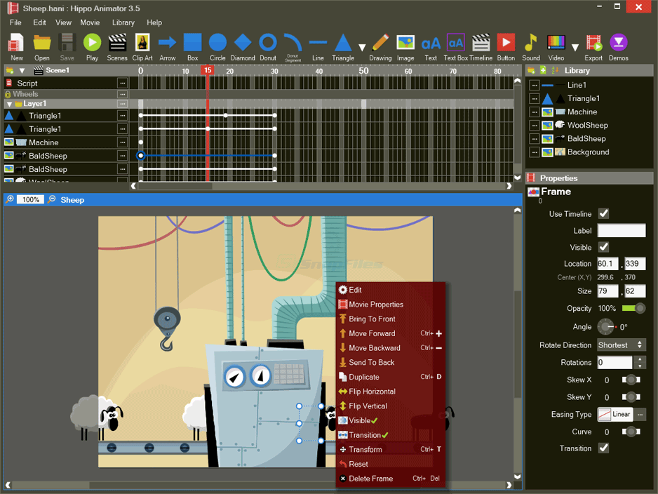 screenshot of Hippo Animator