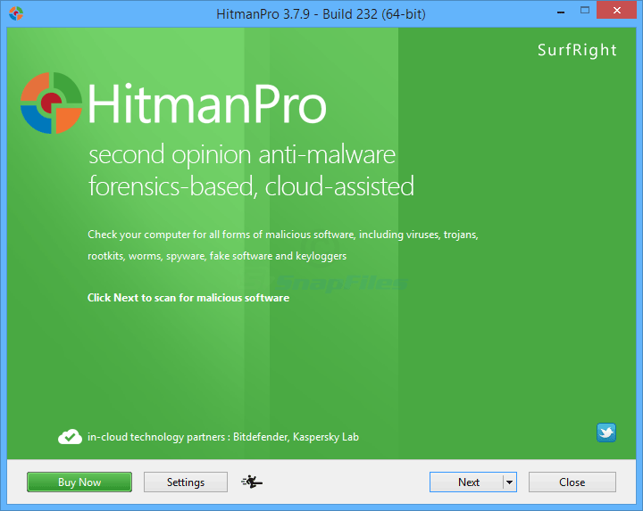 screen capture of HitmanPro