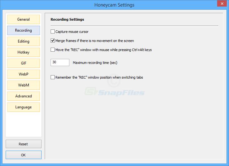 screenshot of Honeycam