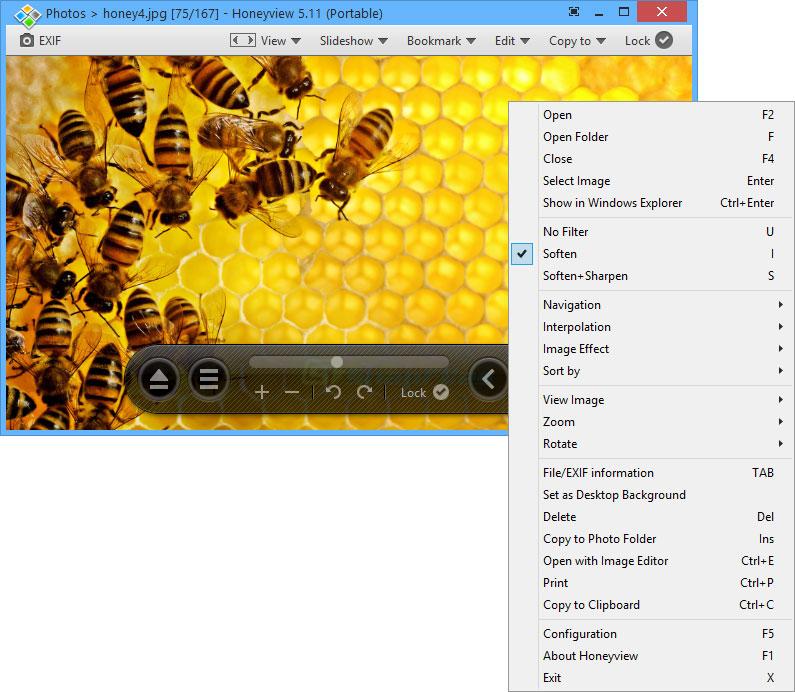 screen capture of Honeyview