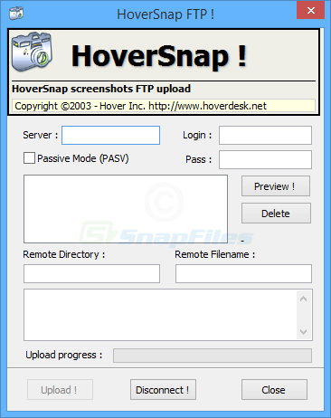 screenshot of HoverSnap
