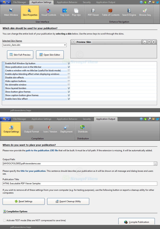 screenshot of HTML Executable