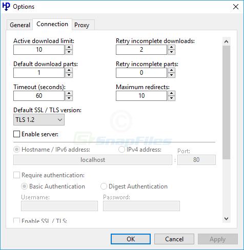 screenshot of HTTP Downloader