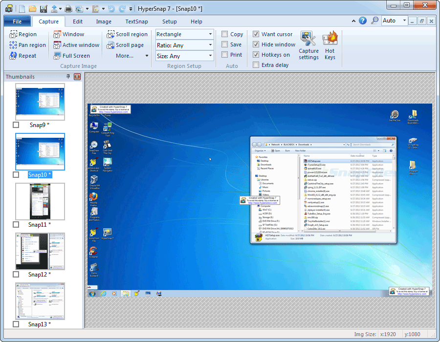 screen capture of HyperSnap