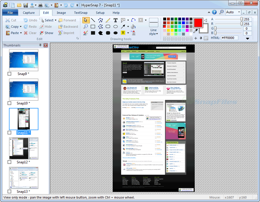 screenshot of HyperSnap