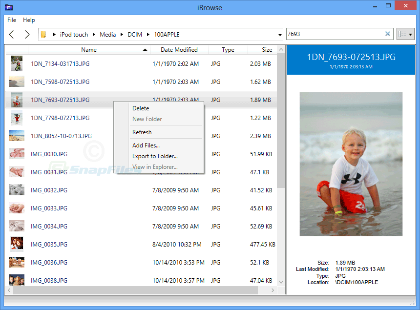 screen capture of iBrowse