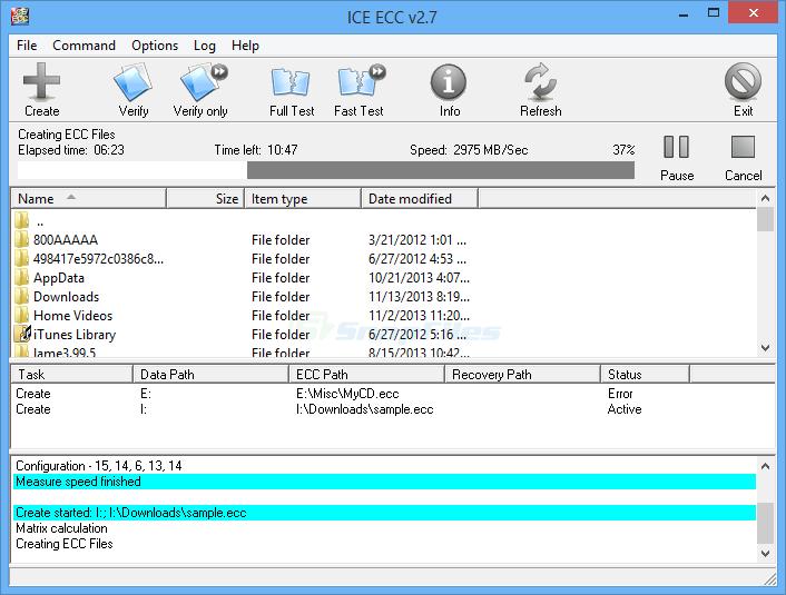 screen capture of ICE ECC