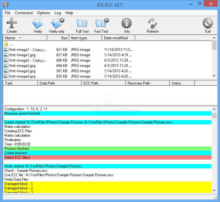 screenshot of ICE ECC