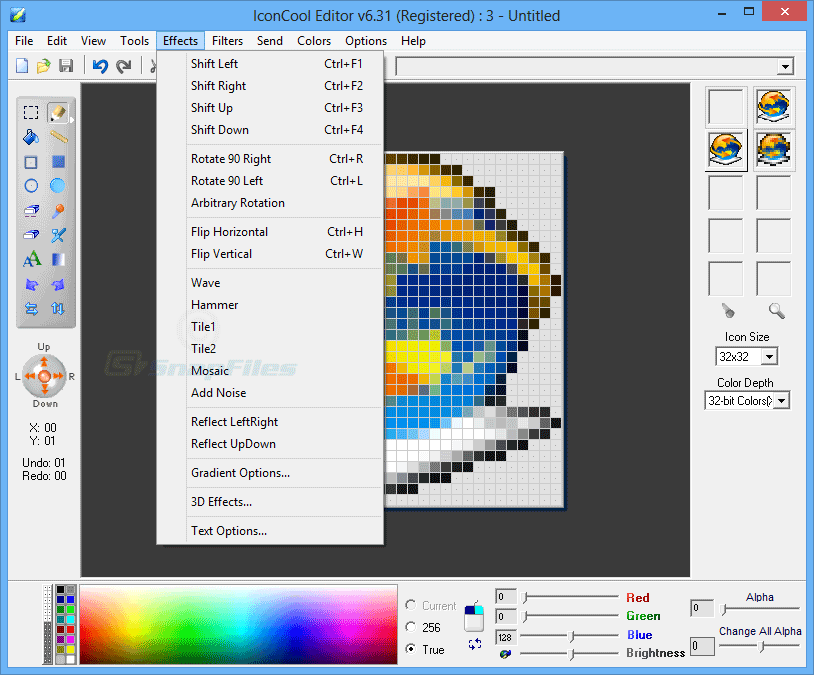 screenshot of IconCool Editor