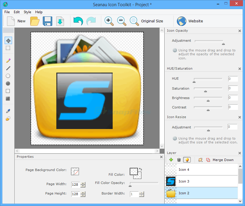 screenshot of Seanau Icon Toolkit