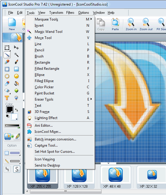 screenshot of IconCool Studio Pro