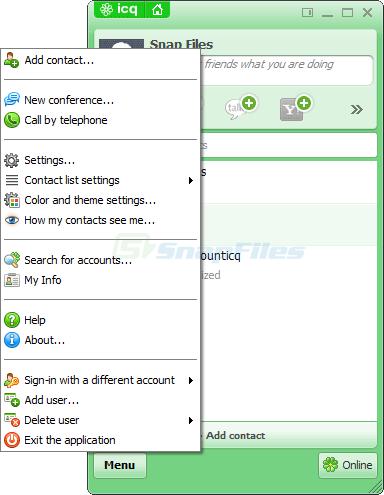 screenshot of ICQ