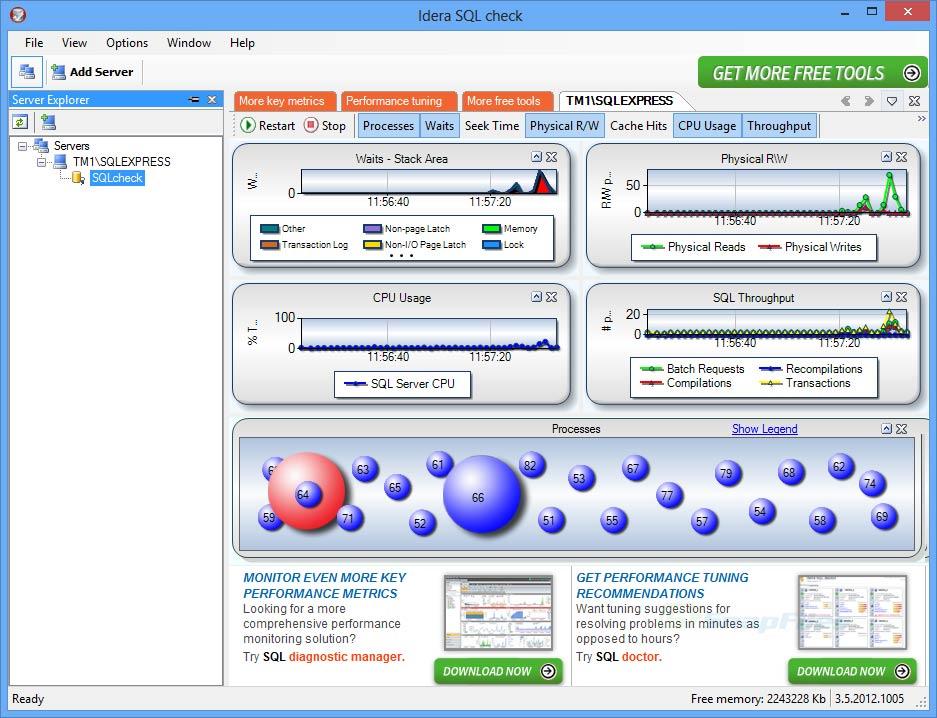 screen capture of Idera SQL Check