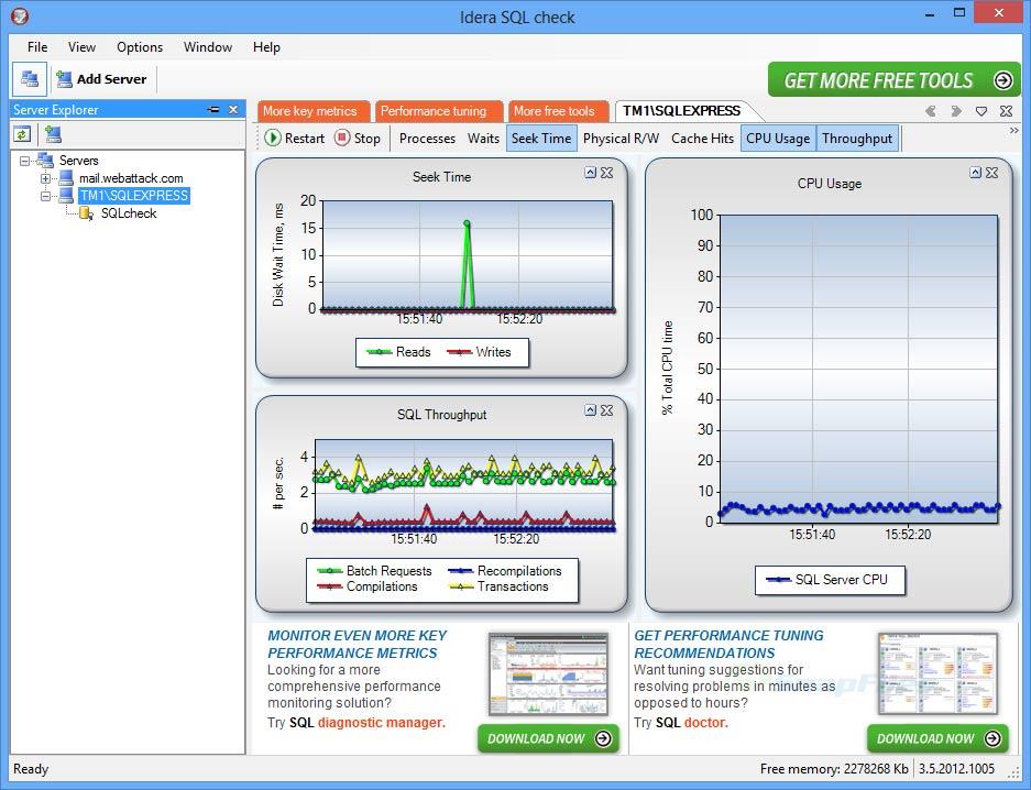 screenshot of Idera SQL Check