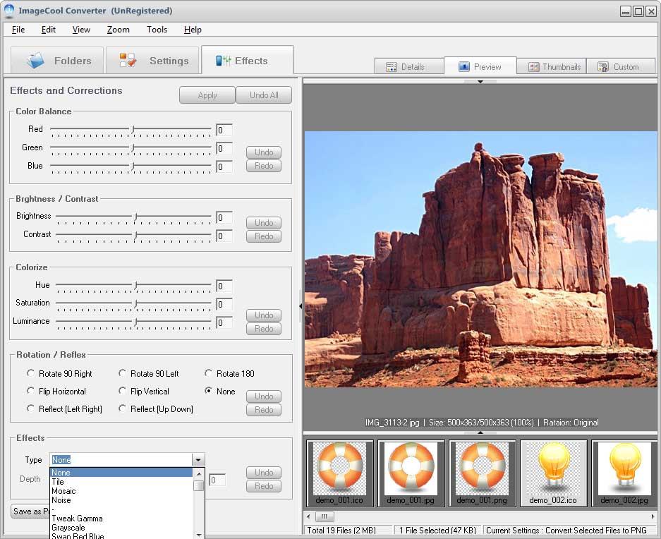 screenshot of Graphics Converter Pro