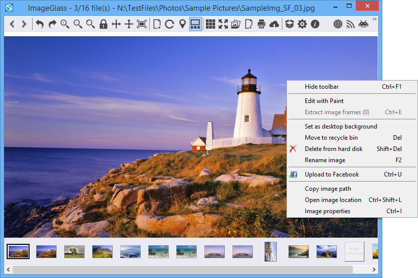screen capture of ImageGlass