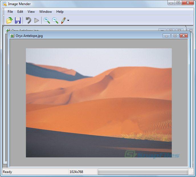 screenshot of Image Mender