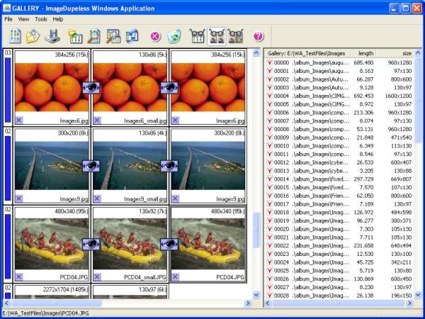 screen capture of ImageDupeless