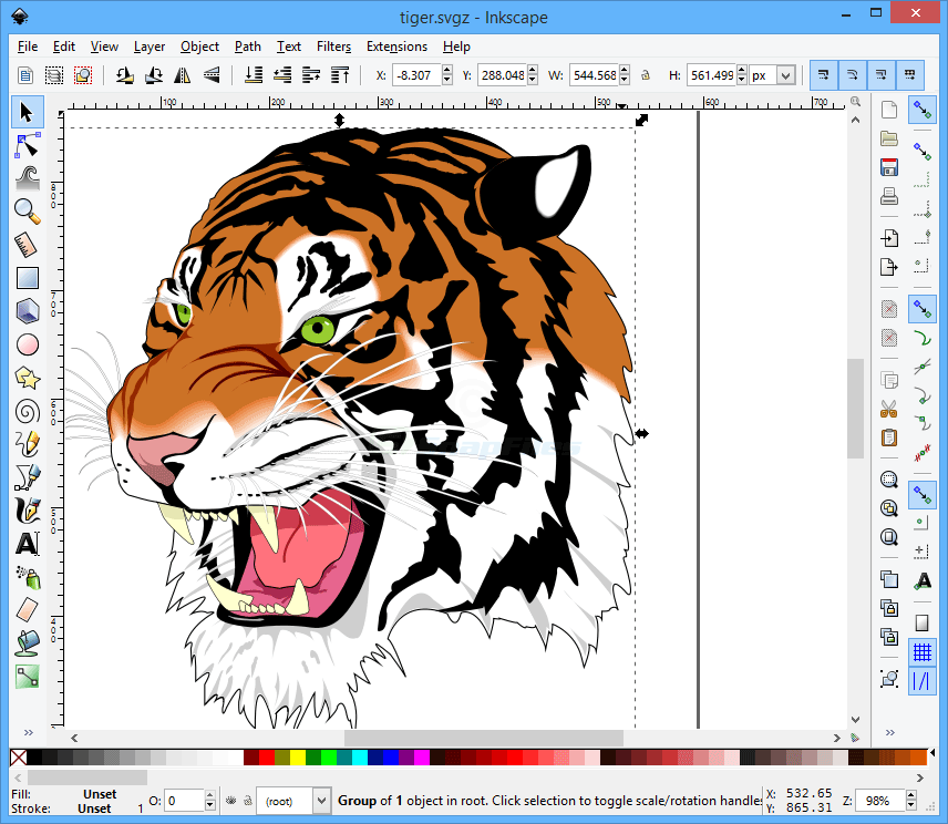 screen capture of Inkscape