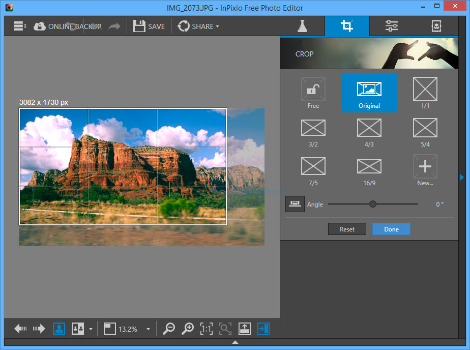 screenshot of Inpixio Free Photo Editor