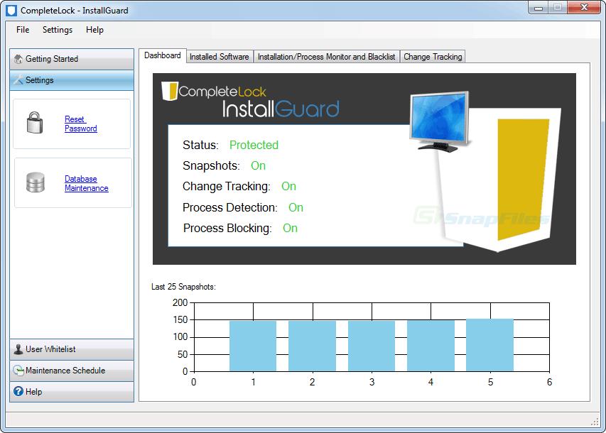 screen capture of InstallGuard