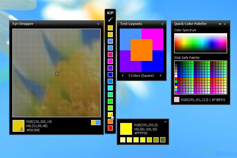 screen capture of Instant Color Picker