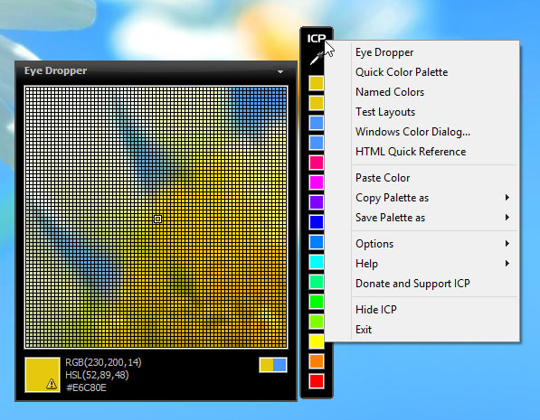 screenshot of Instant Color Picker