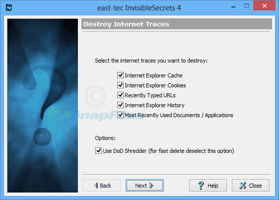 screenshot of east-tec InvisibleSecrets