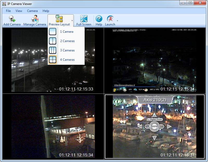 screenshot of IP Camera Viewer