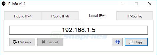 screenshot of IP-Info