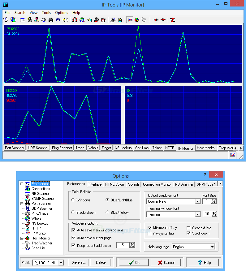 screenshot of IP-Tools Lite