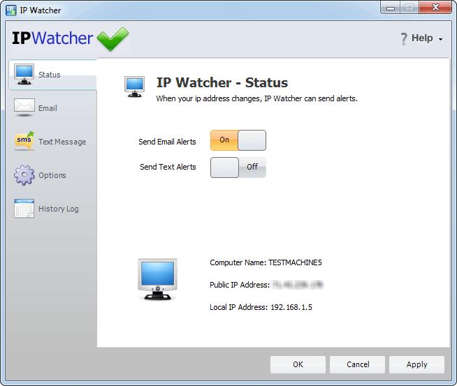 screen capture of IP Watcher
