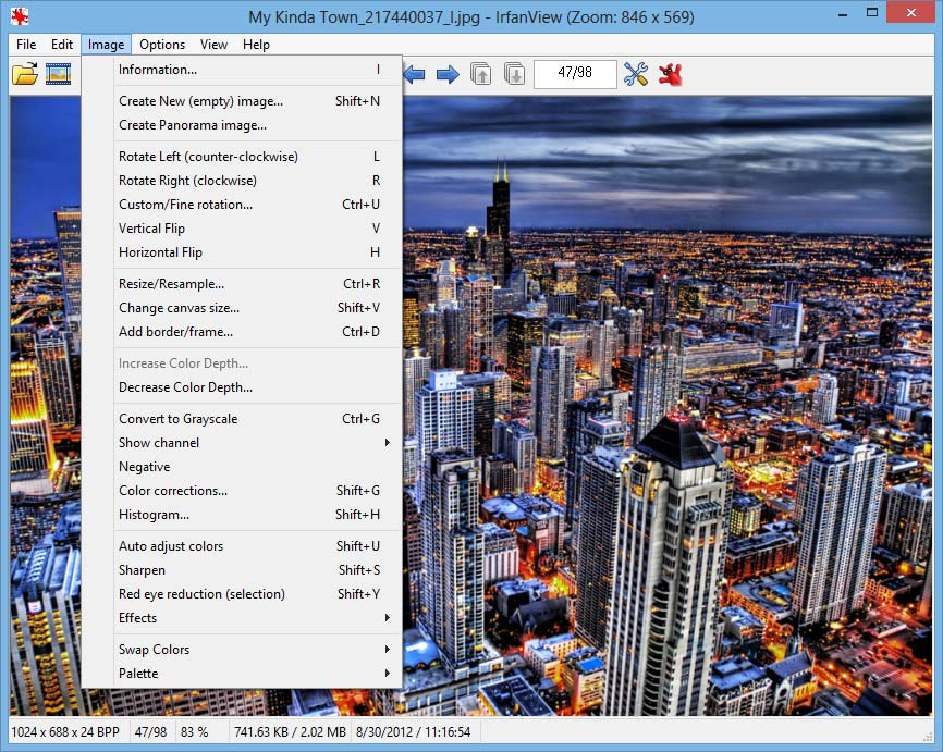 screenshot of IrfanView