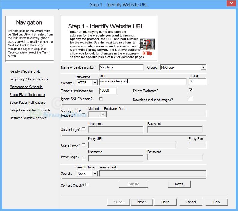 screenshot of IsItUp